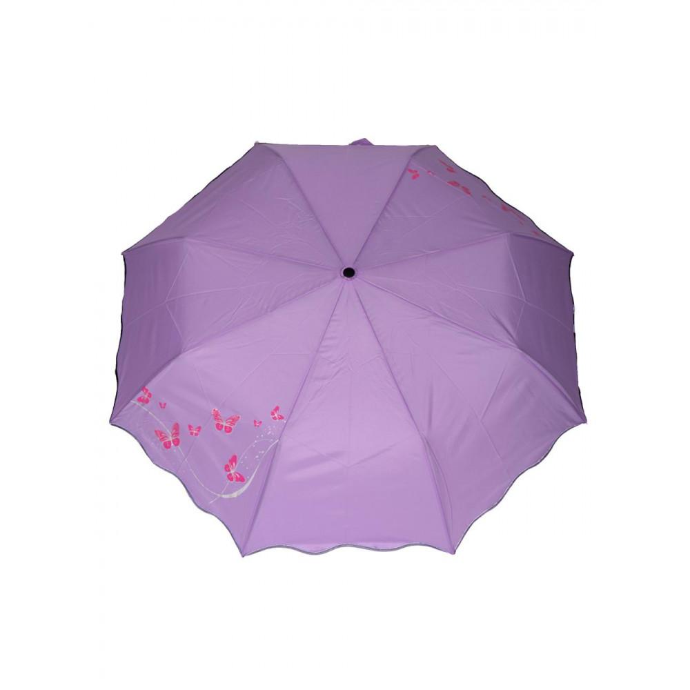 Красивый зонт-полуавтомат с бабочками фото 1
