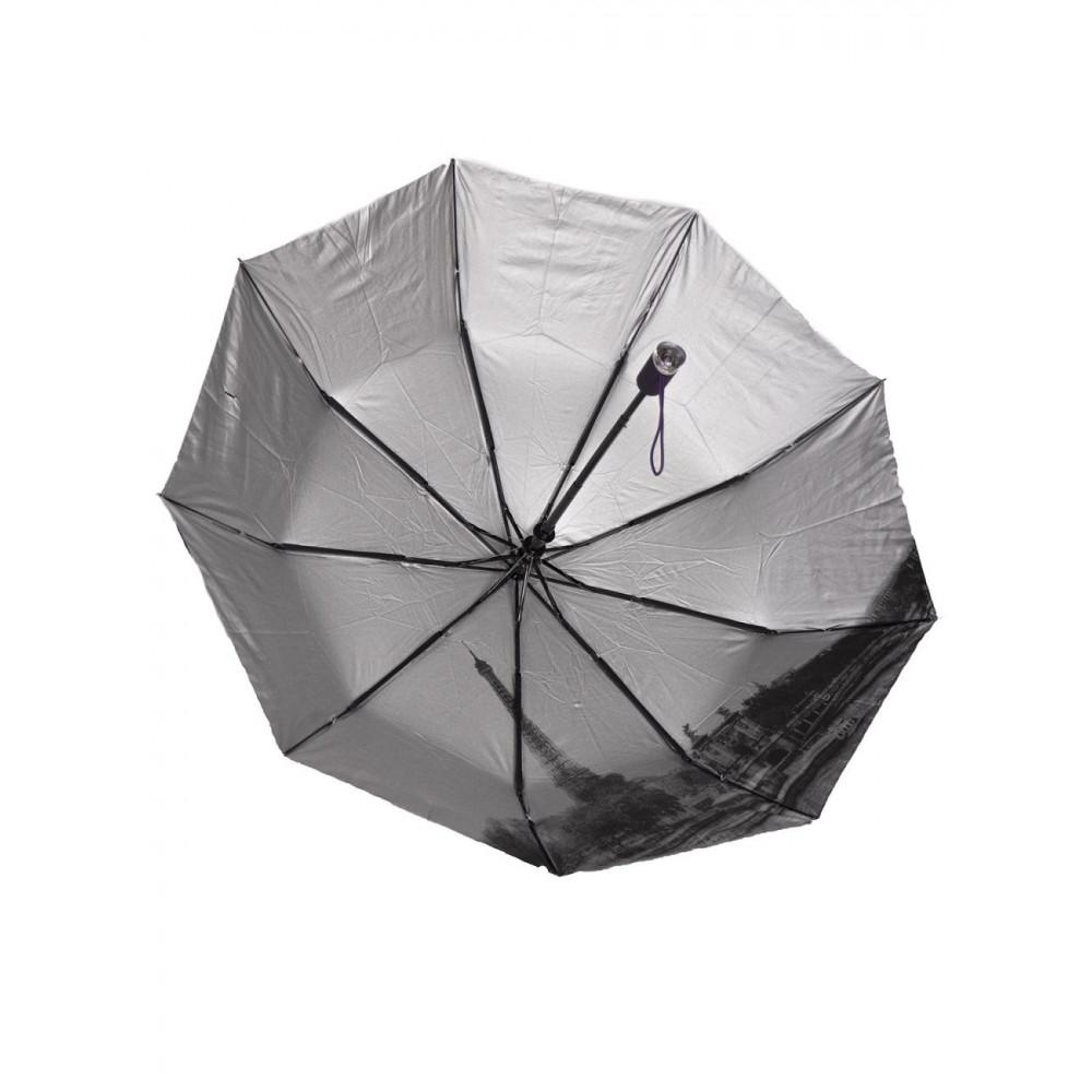 Милый фиолетовый зонт с узором фото 3