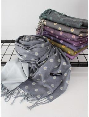 Кашемировый двусторонний шарф палантин Инесса