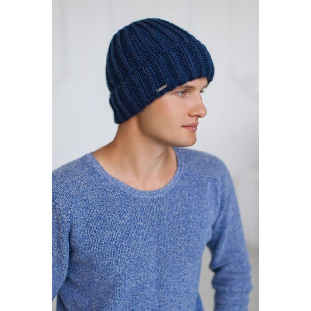 Вязаная зимняя шапка Кевин фото 2