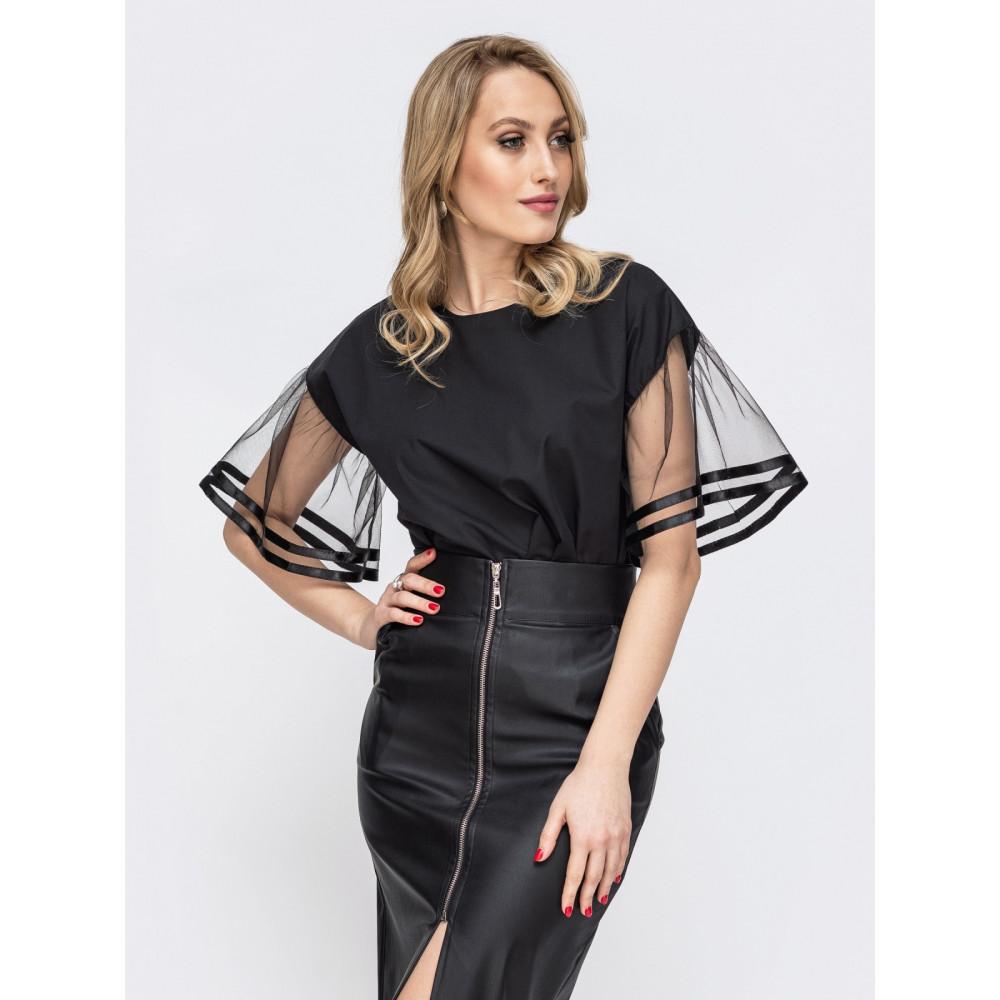Нарядная блузка с оригинальными рукавами фото 1