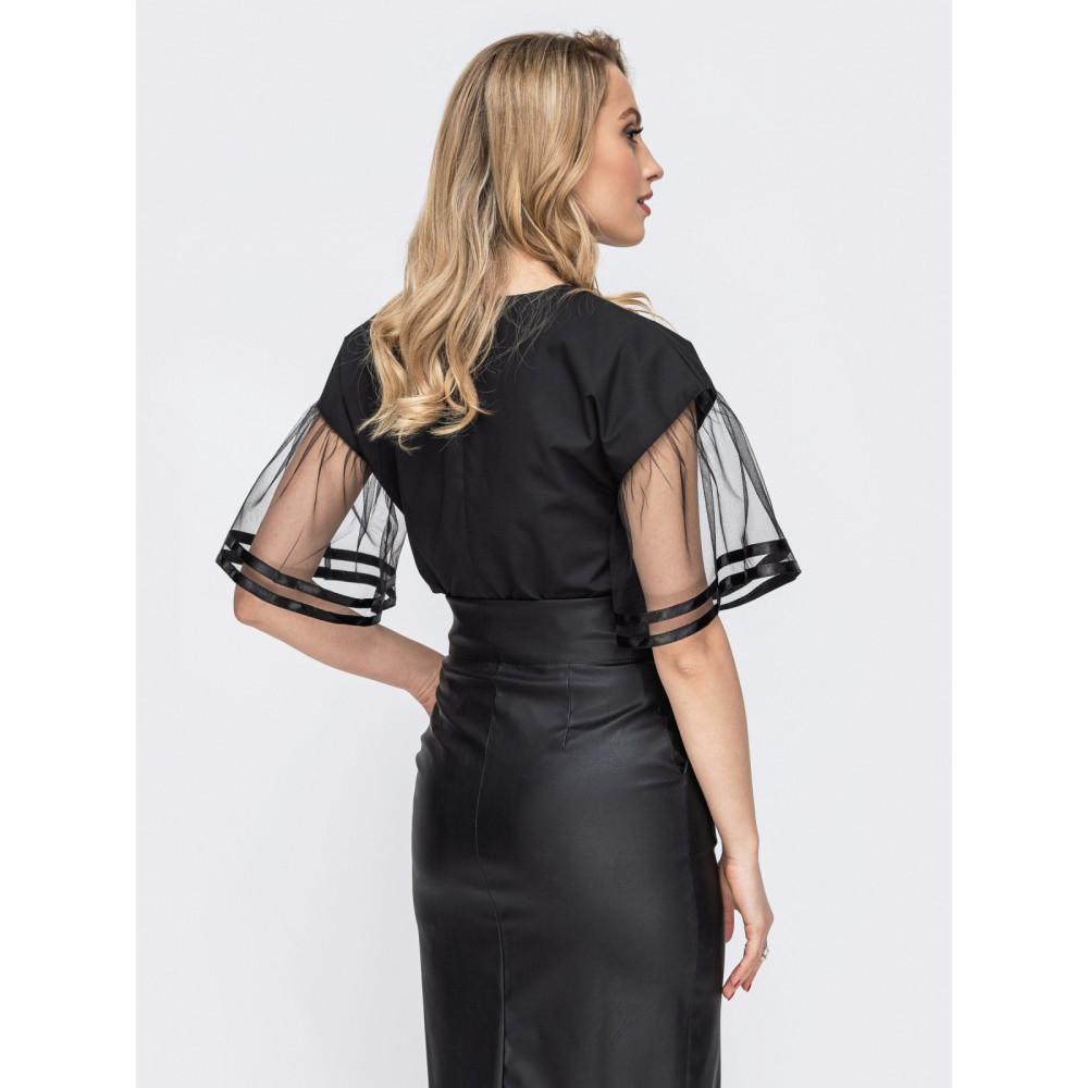 Нарядная блузка с оригинальными рукавами фото 2