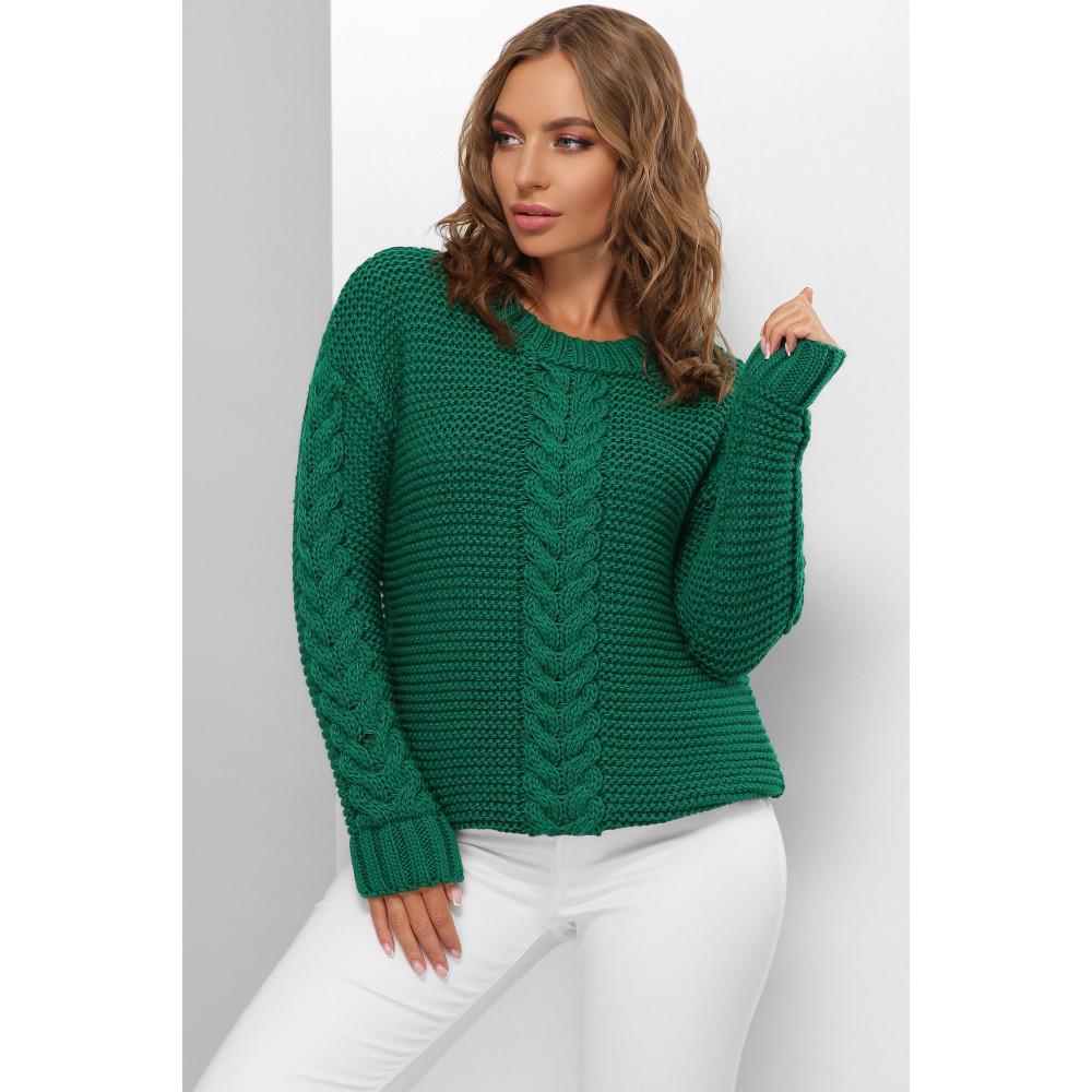 Изумрудный красивый свитер Мелиса фото 1