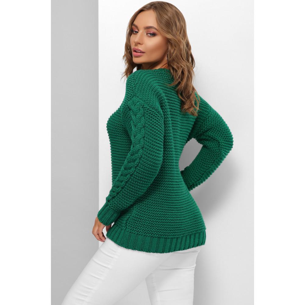 Изумрудный красивый свитер Мелиса фото 2