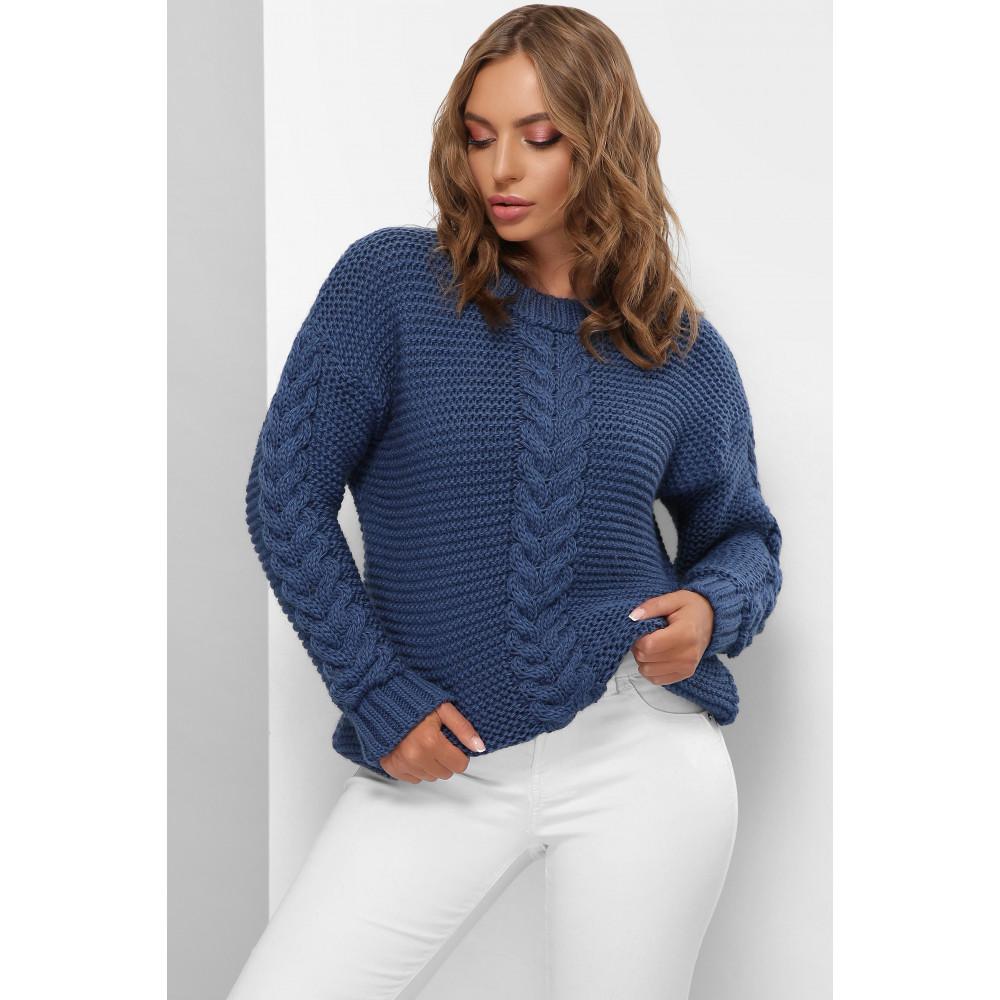 Комфортный свитер синего цвета Мелиса фото 1