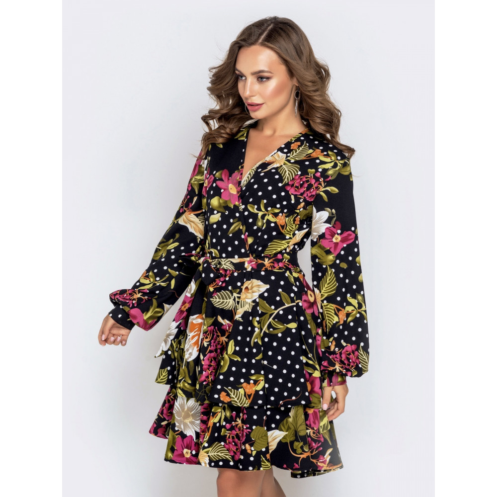 Женственное платье в цветочный принт фото 2