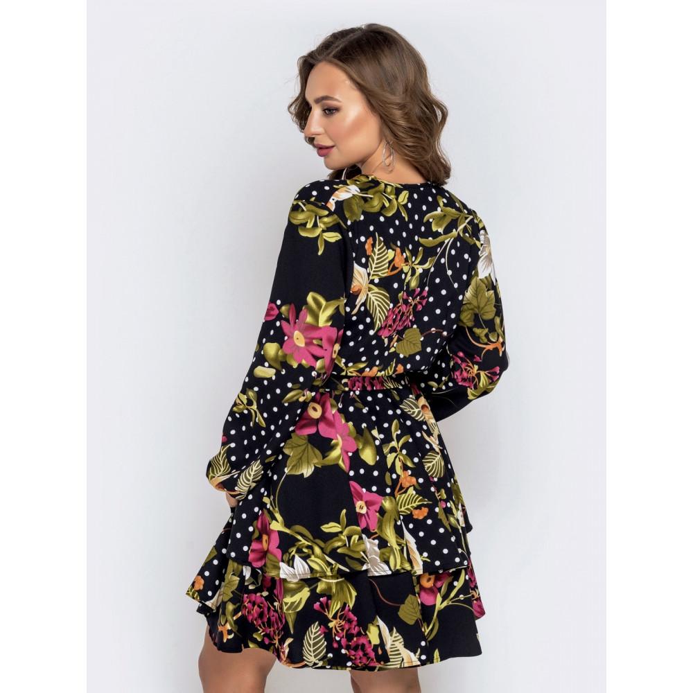 Женственное платье в цветочный принт фото 3
