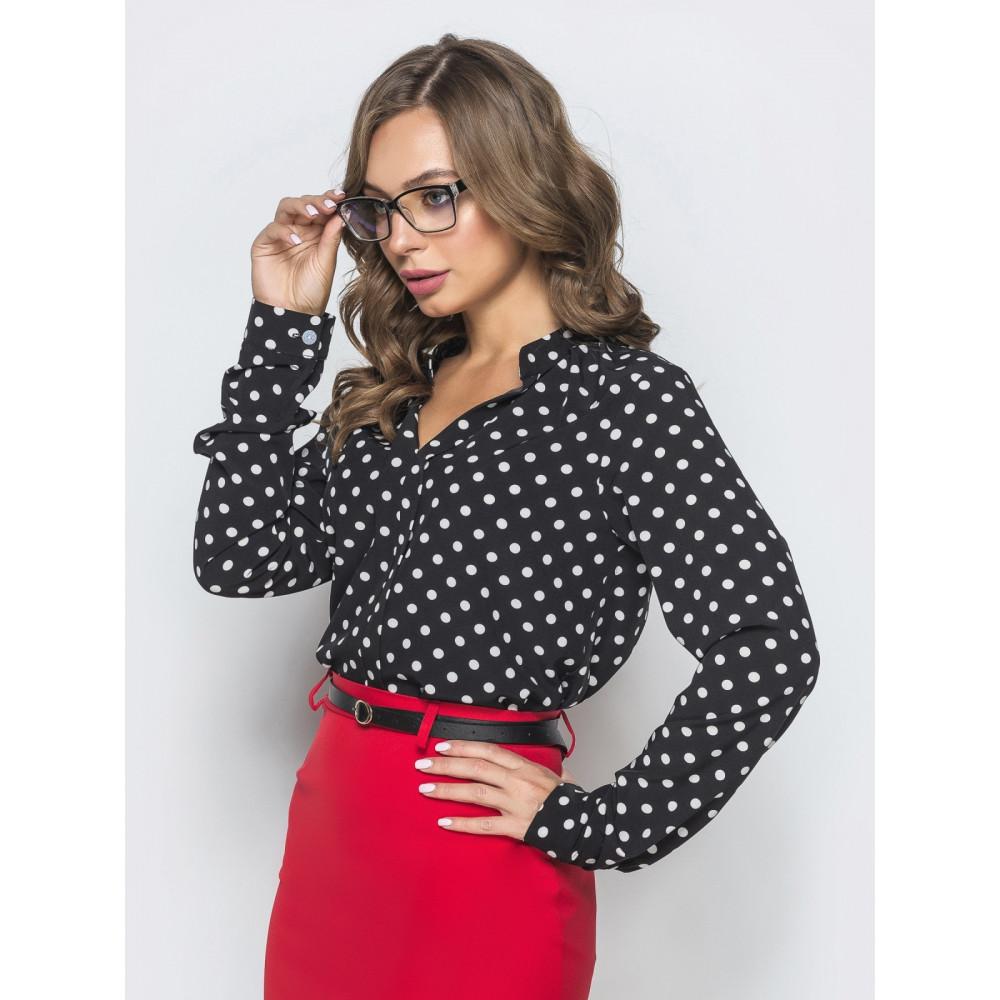 Блузка с принтом в стиле ретро Катрин фото 2