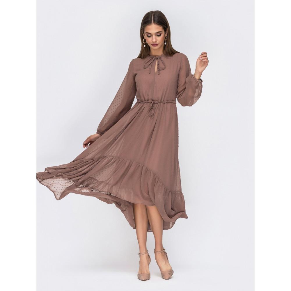 Воздушное платье из креп-шифона фото 1