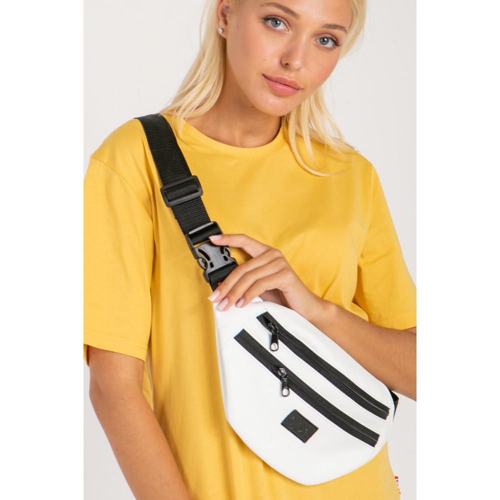 Белая сумка на пояс GEN фото 1