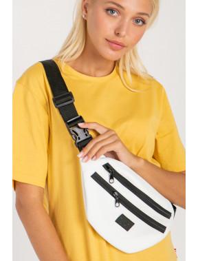 Біла сумка на пояс GEN