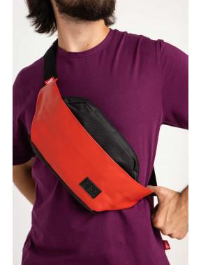 Червона овальна сумка Ben