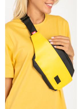 Яскраво-жовта овальна сумка Ben