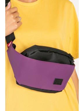 Фіолетова овальна сумка Ben