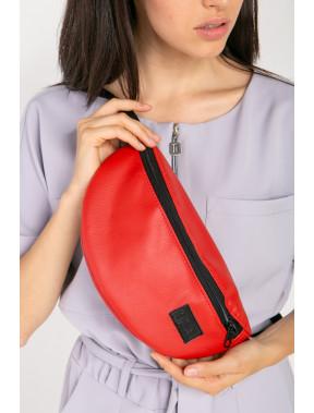 Яскраво-червона сумка на пояс Ten
