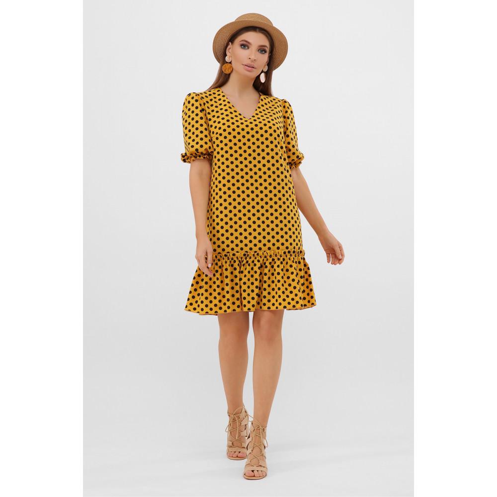 Горчичное платье Мальвина фото 1