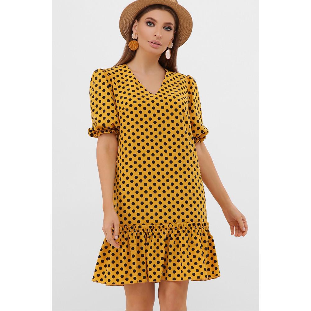 Горчичное платье Мальвина фото 2