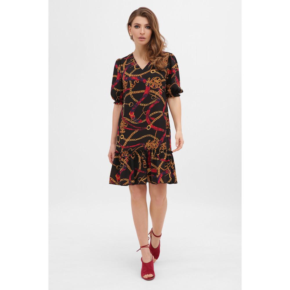 Платье А-силуэта с принтом цепи Мальвина фото 1