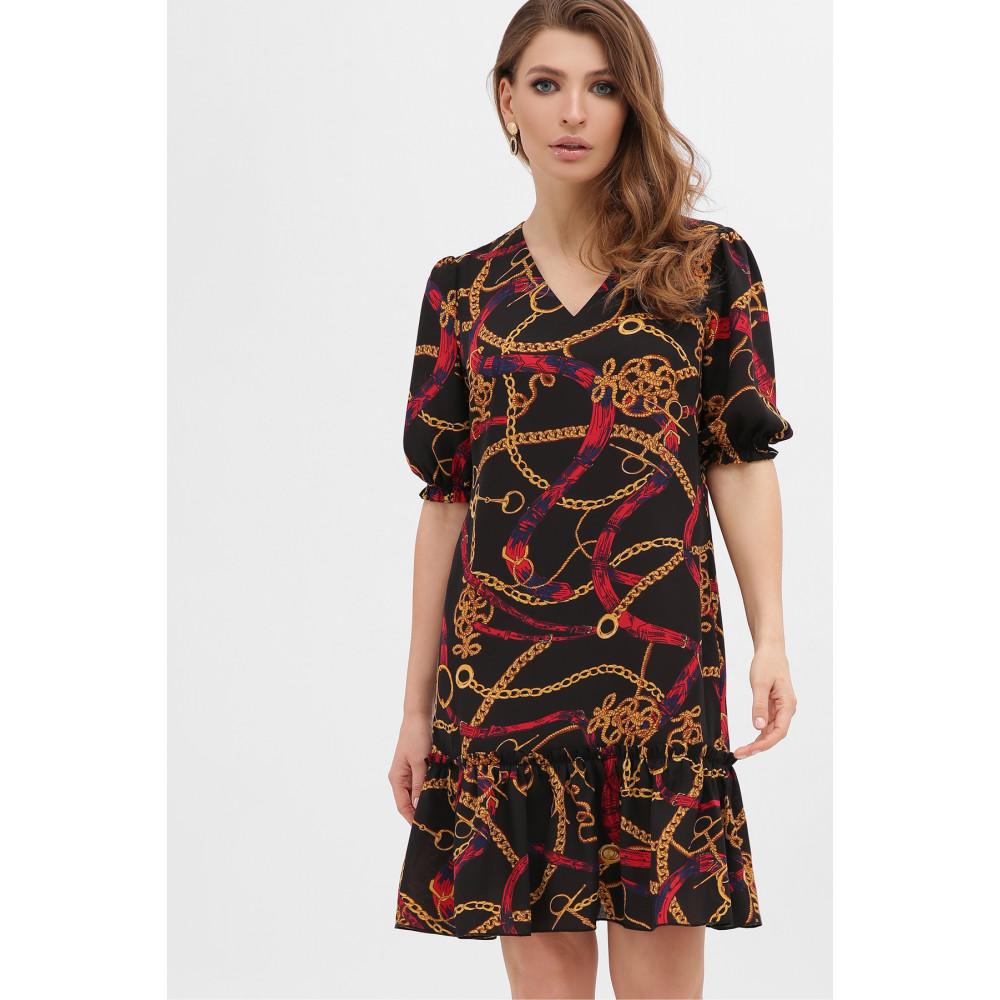 Платье А-силуэта с принтом цепи Мальвина фото 2