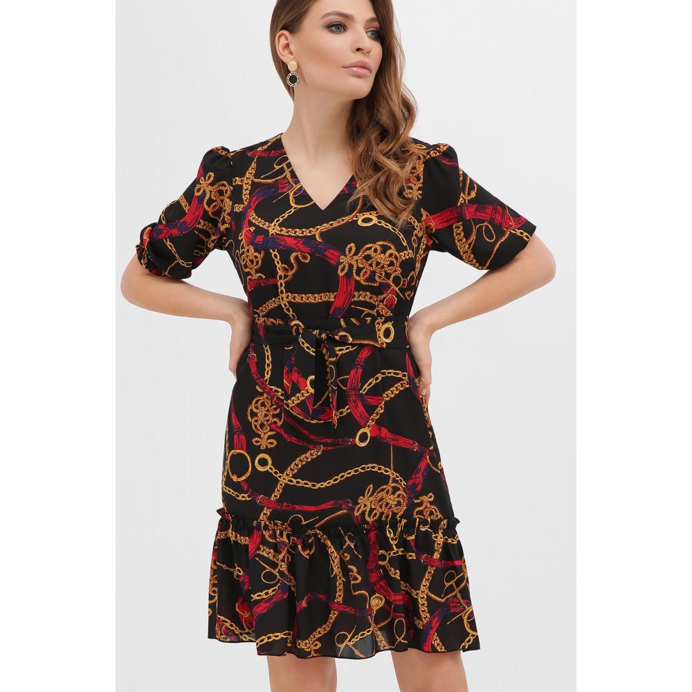 Платье А-силуэта с принтом цепи Мальвина фото 3