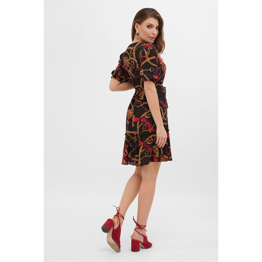 Платье А-силуэта с принтом цепи Мальвина фото 4