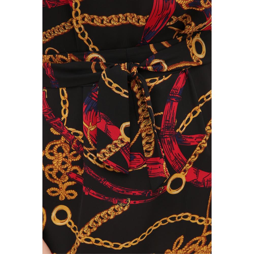 Платье А-силуэта с принтом цепи Мальвина фото 5