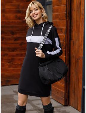 Молодіжна чорна сукня-худі Каміль