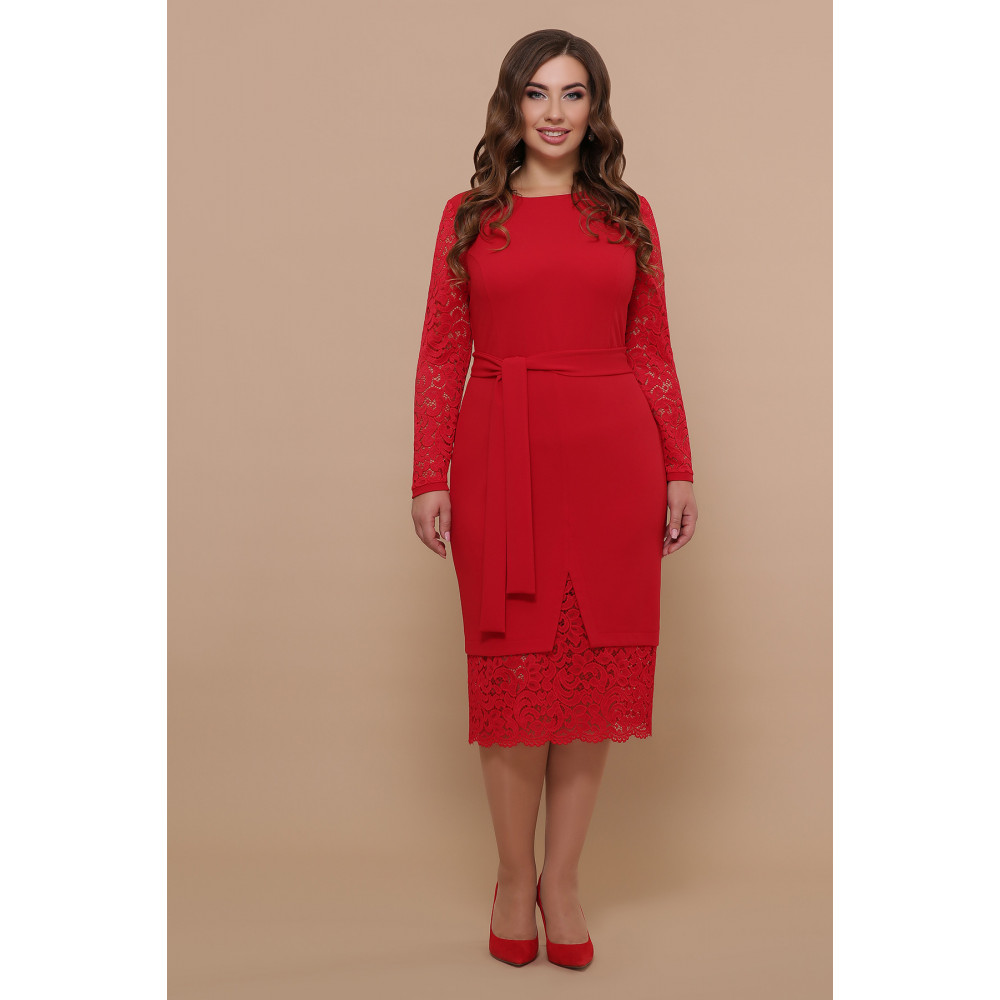 Красное нарядное платье Марика фото 2