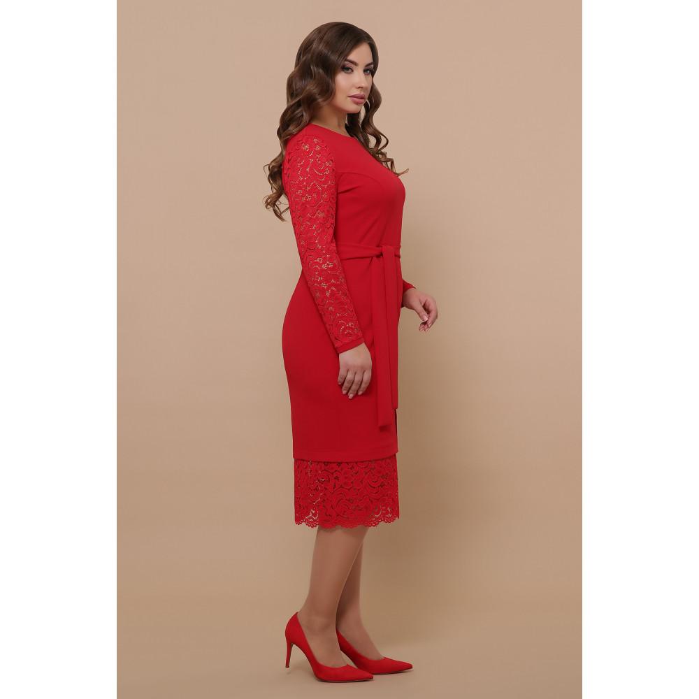 Красное нарядное платье Марика фото 3