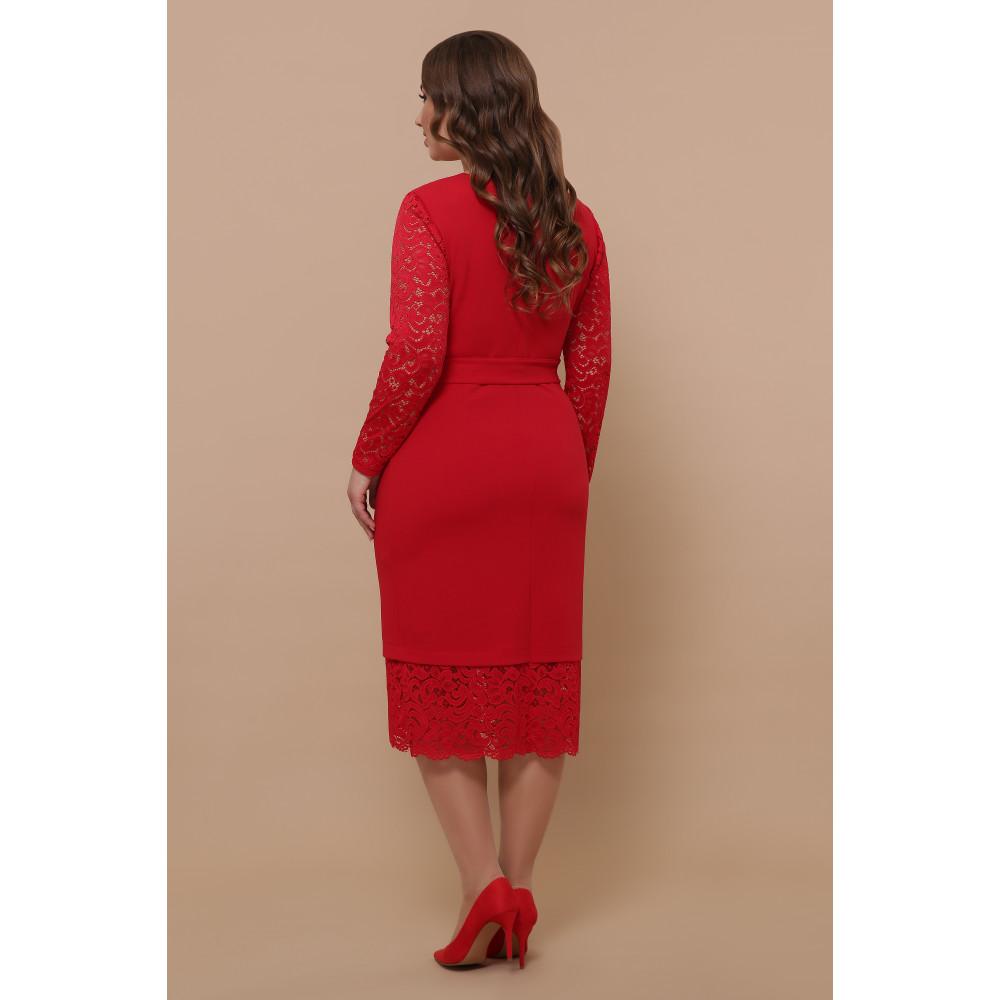 Красное нарядное платье Марика фото 4