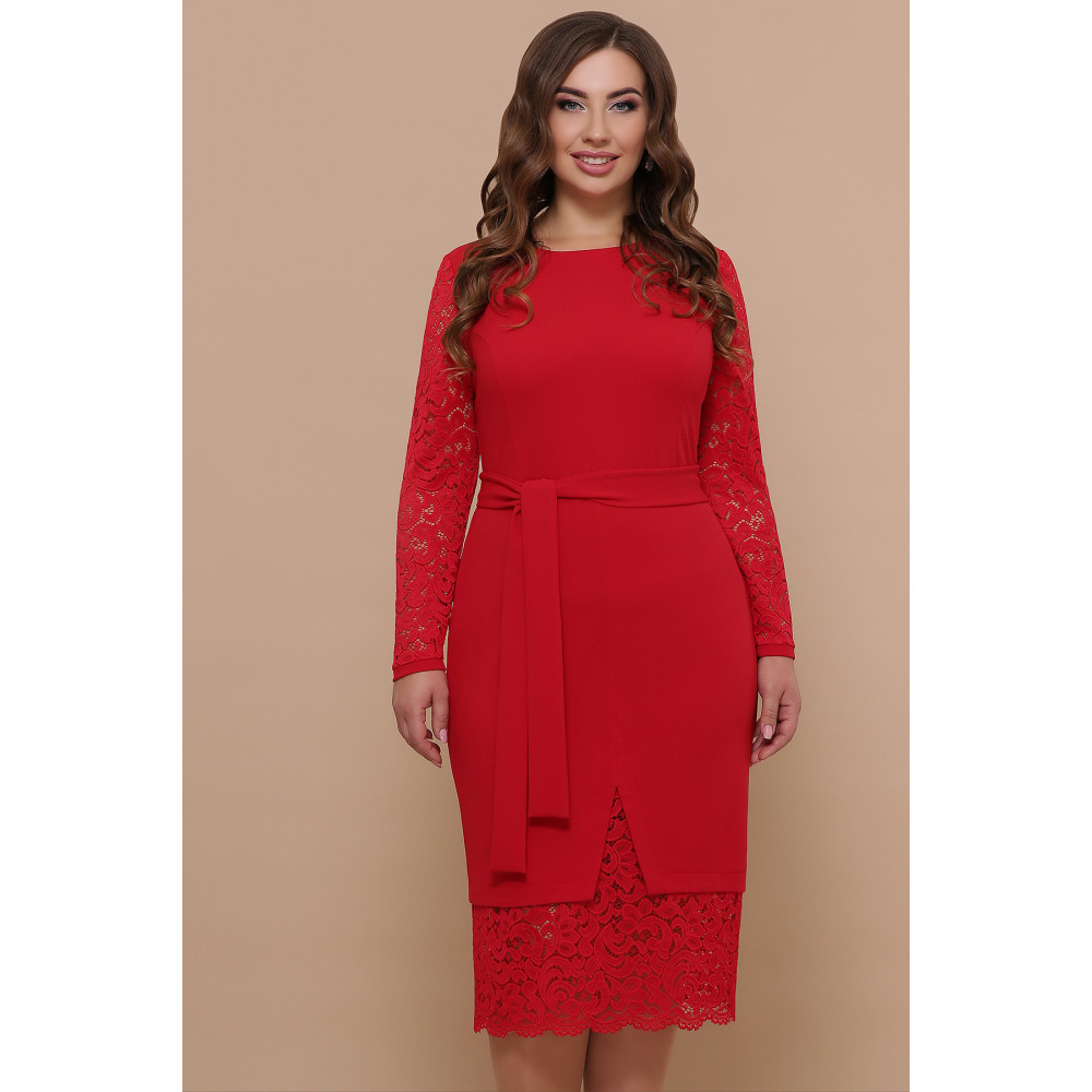 Красное нарядное платье Марика фото 1