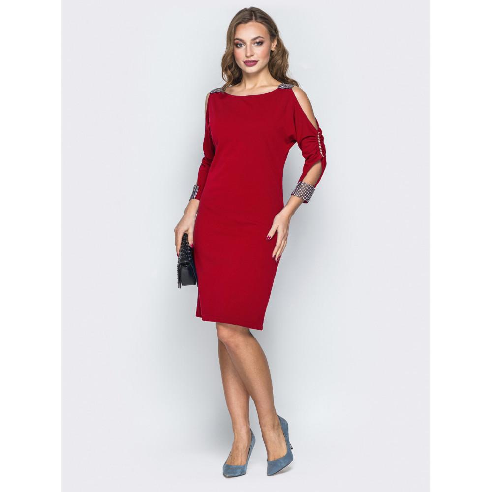 Красное платье с вырезами на плечах Мариям фото 1