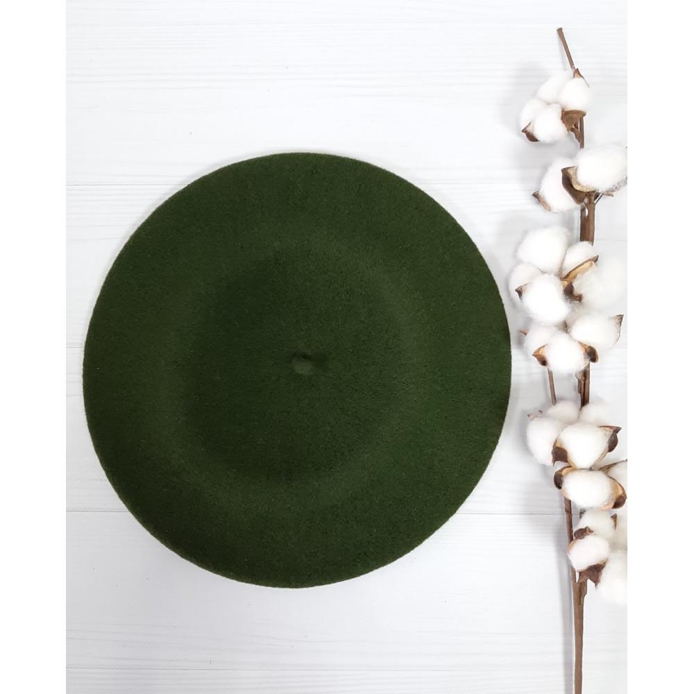 Зеленый классический берет Флора-484 фото 1