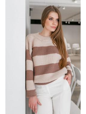 Ніжний рожевий джемпер в смужку