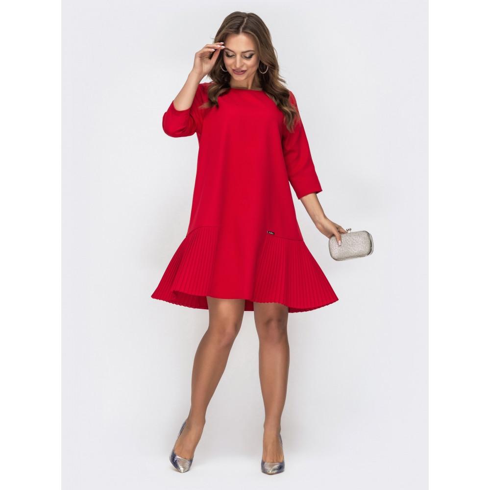 Красное платье-трапеция фото 1