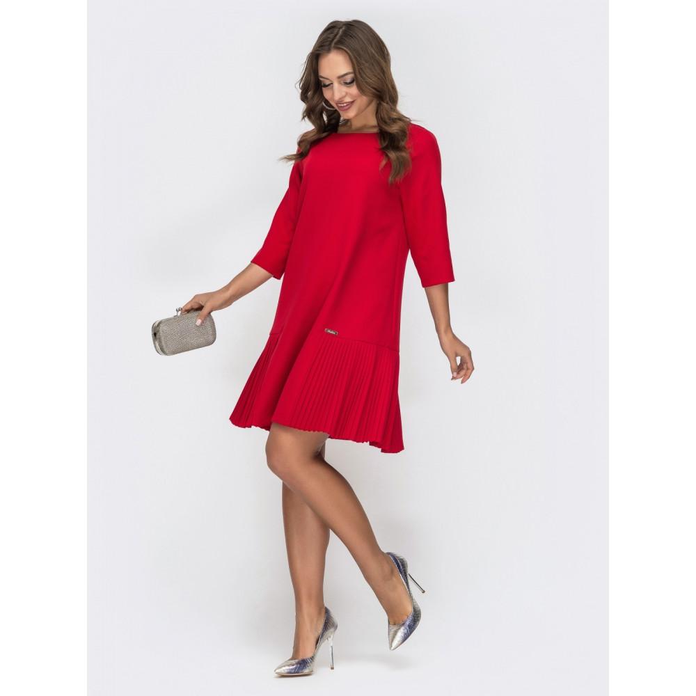 Красное платье-трапеция фото 2