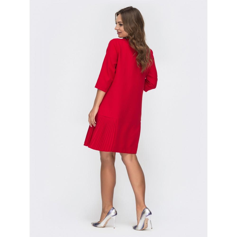 Красное платье-трапеция фото 3