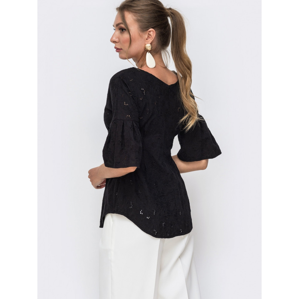 Блузка из актуальной прошвы Синти фото 2