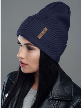 Демисезонная синяя шапка Швеция