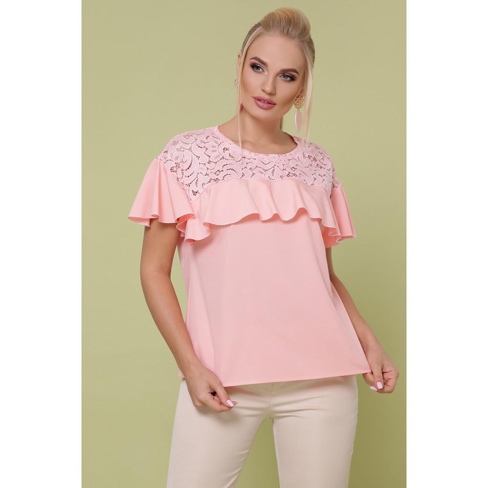 Мила персикова блуза Меланія фото 1