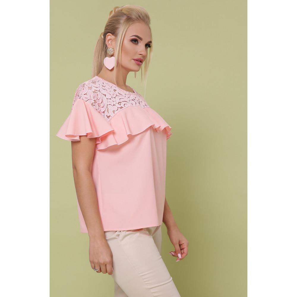 Мила персикова блуза Меланія фото 2