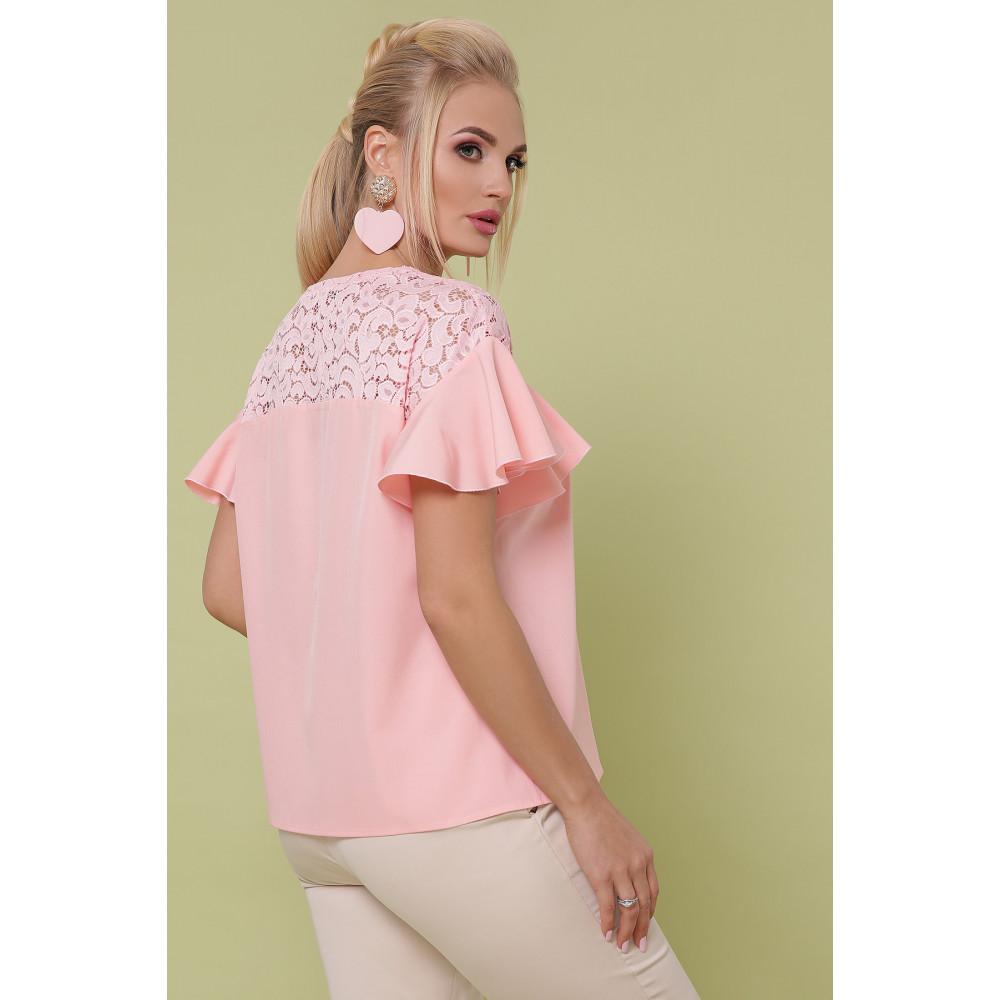 Мила персикова блуза Меланія фото 3