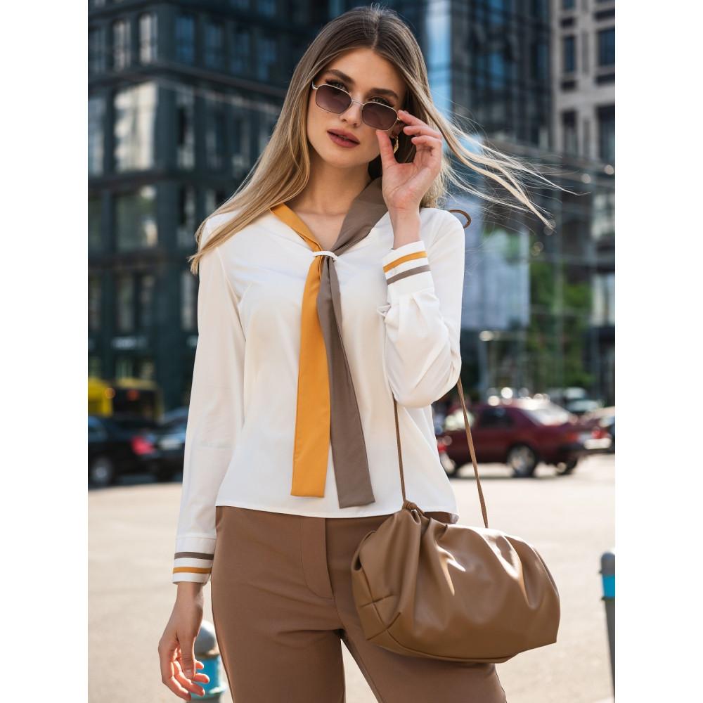 Блузка с контрастным «галстуком» фото 2