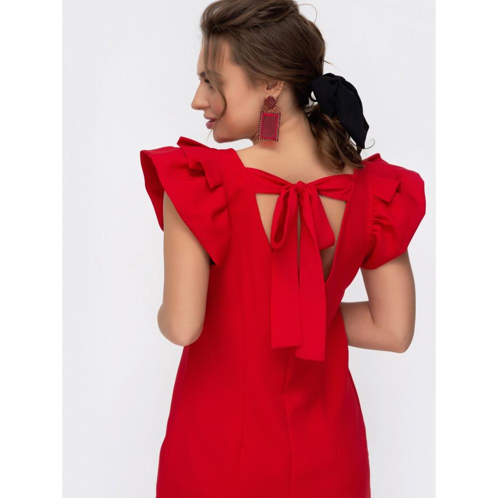 Красное платье из костюмной ткани Шарлотта фото 2