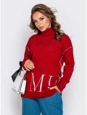 Стильний подовжений светр Muah