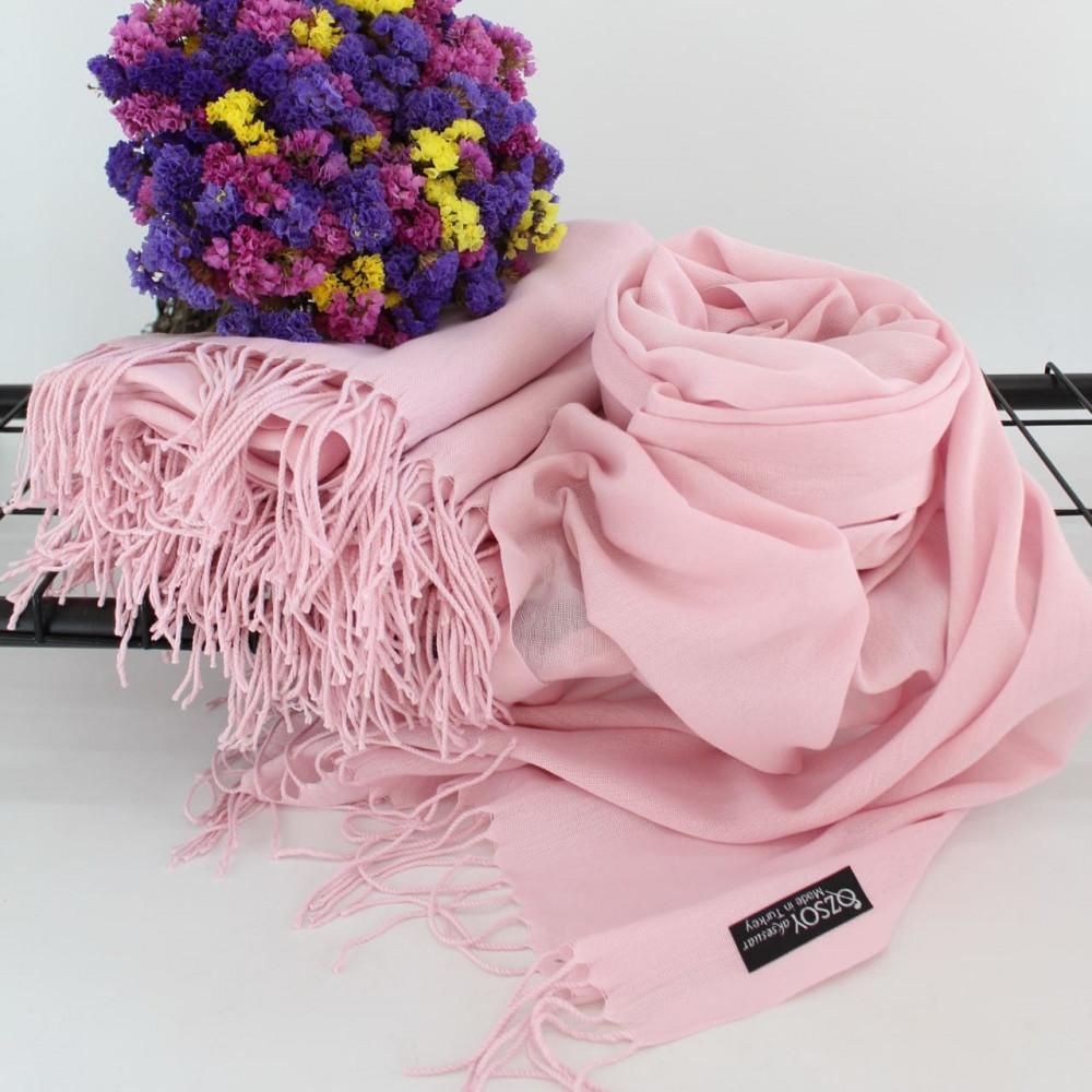 Воздушный розовый палантин Луиза фото 1