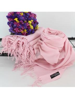 Воздушный розовый палантин Луиза