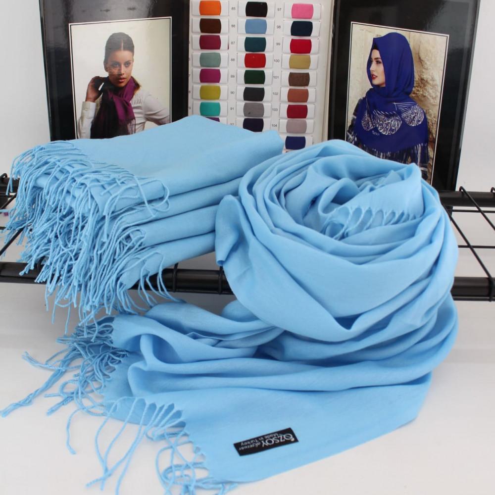 Красивый голубой палантин Луиза фото 1