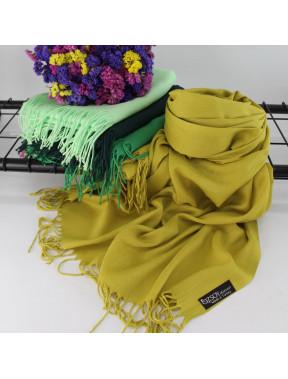 Оливковый однотонный шарф Луиза