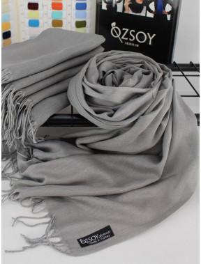 Однотонный палантин Луиза серого цвета